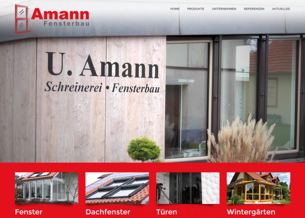 Fensterbau Amann in neuem Design